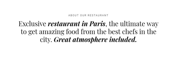 About restaurant business WordPress Theme