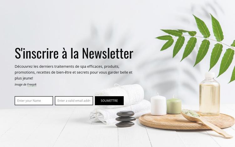 S'inscrire à la Newsletter Modèle de site Web