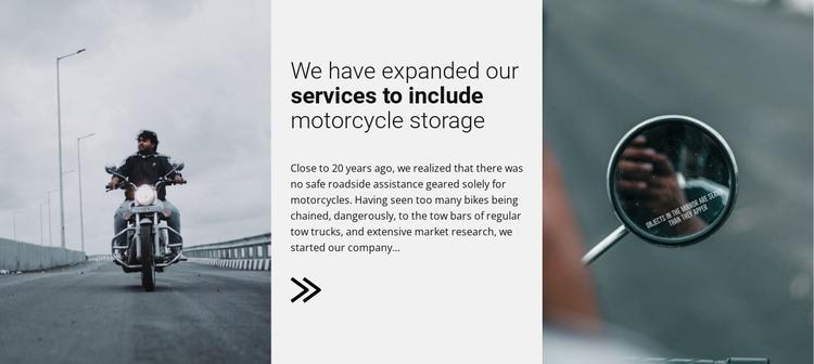 Motorcykles servises HTML Template