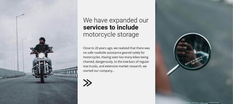 Motorcykles servises HTML5 Template