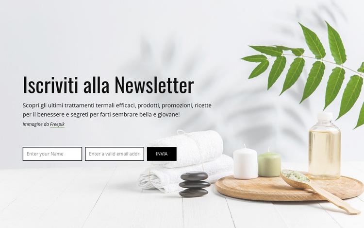 Iscriviti alla Newsletter Modello di sito Web