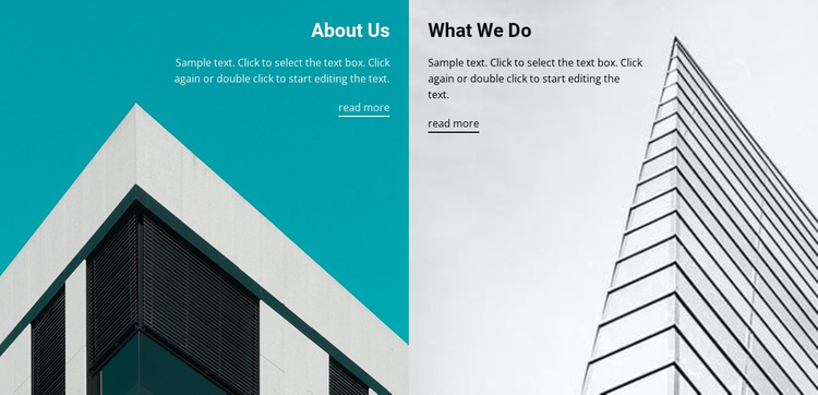 About building company One Page Template