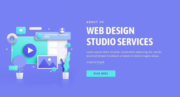 We bring designs to life One Page Template