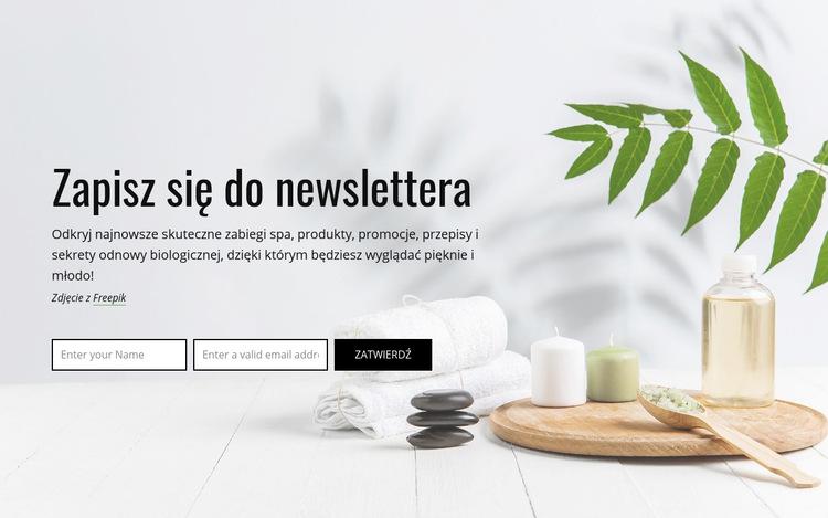 Zapisz się do newslettera Szablon witryny sieci Web