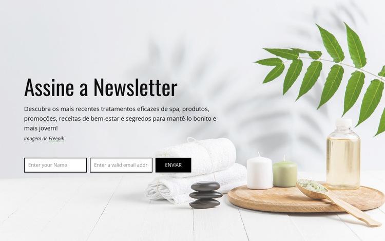 Assine a newsletter Modelo de site