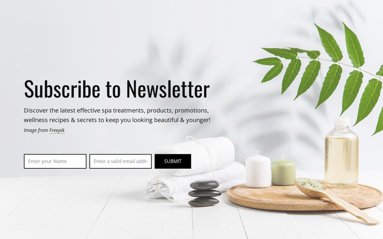 Subscribe to newsletter Website Template
