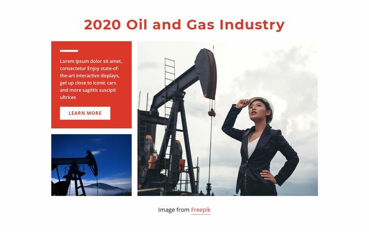 Gas industrial technology Website Template