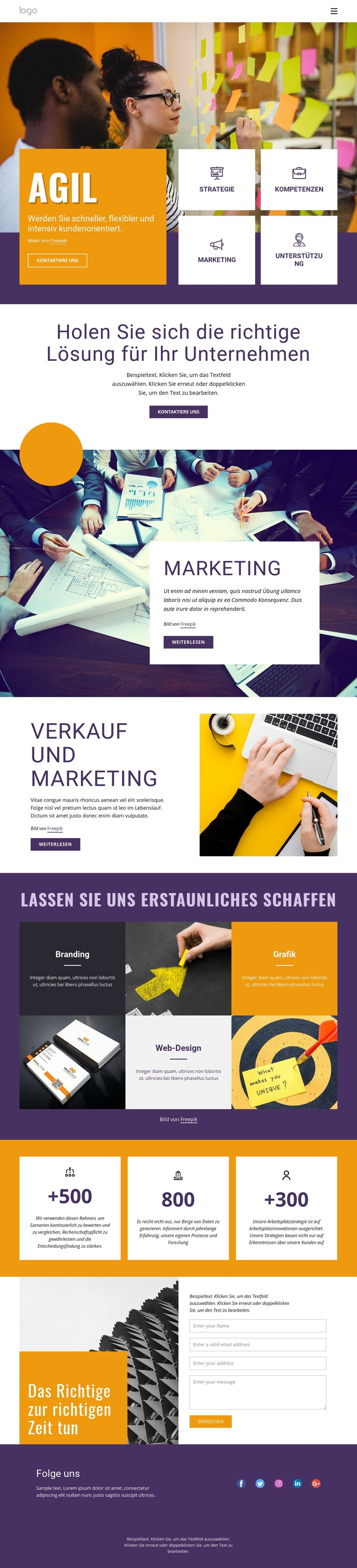 IT-Business-Services Website-Vorlage