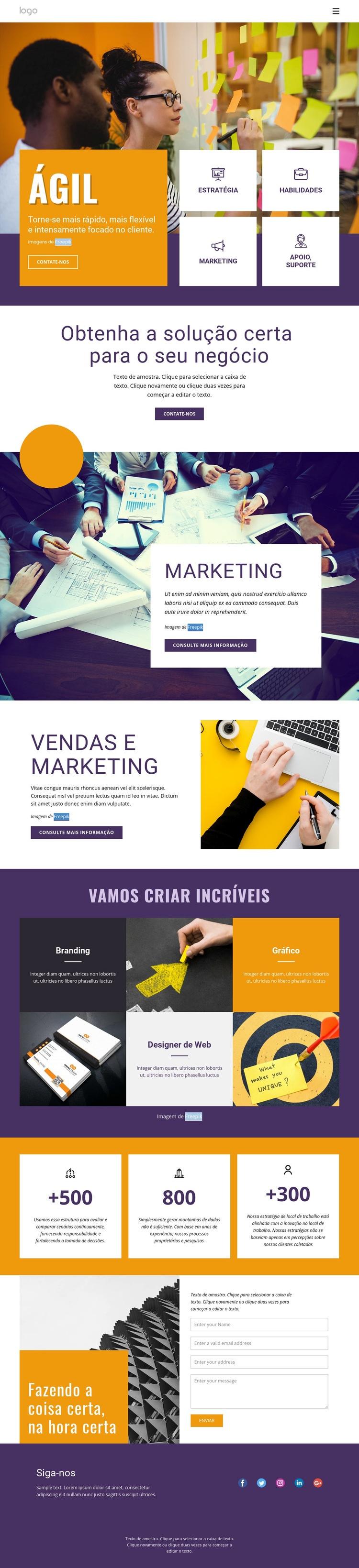 Serviços de negócios de TI Modelo de site