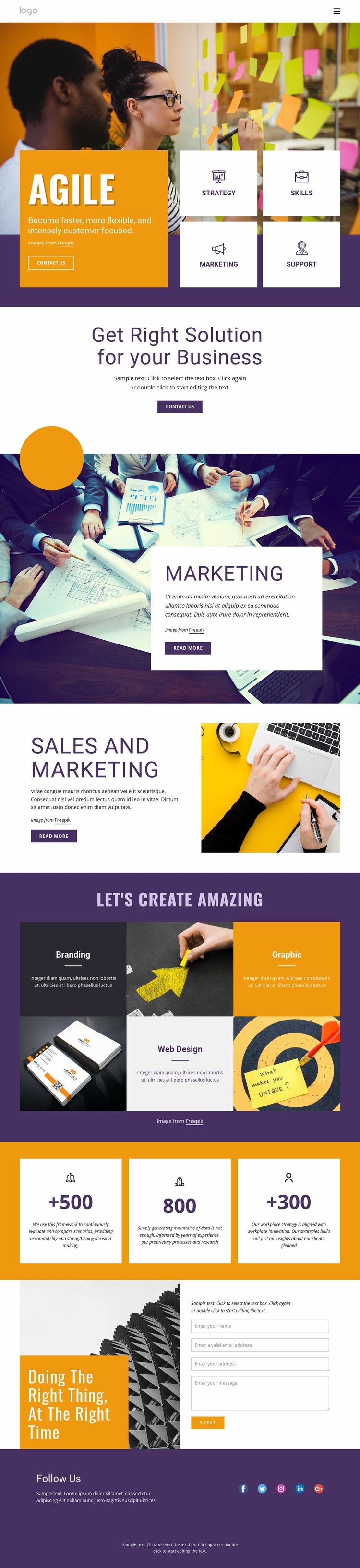 IT business services Website Mockup