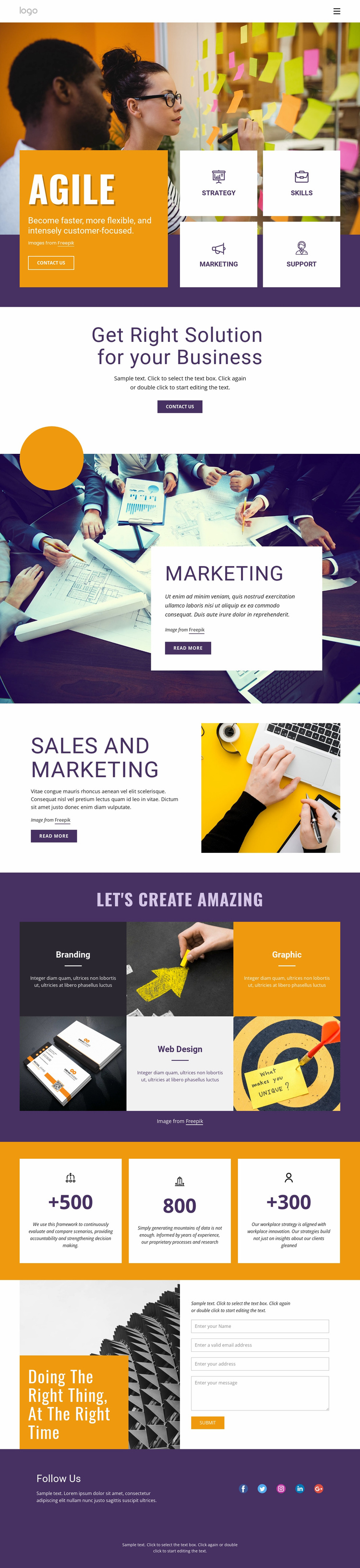 IT business services Landing Page