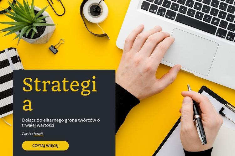 Startup i konsultanci Szablon witryny sieci Web