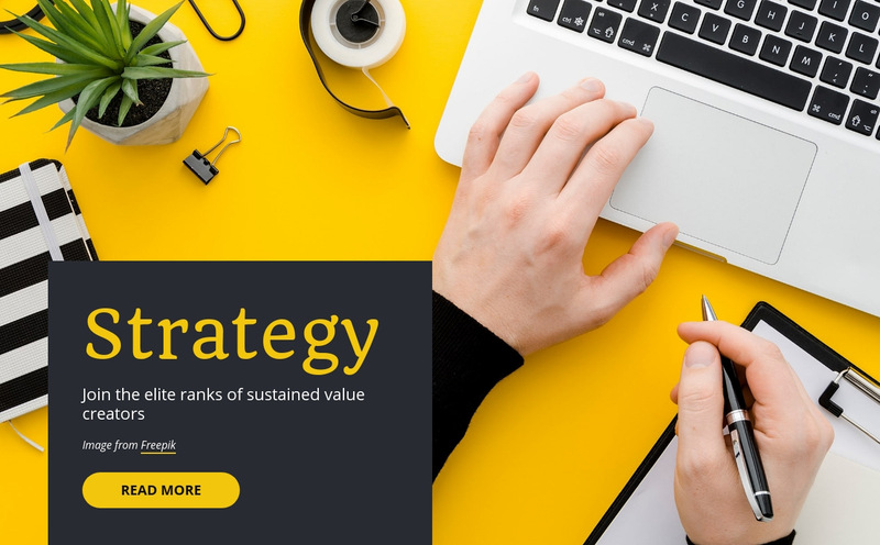 Startup and consultants Web Page Designer
