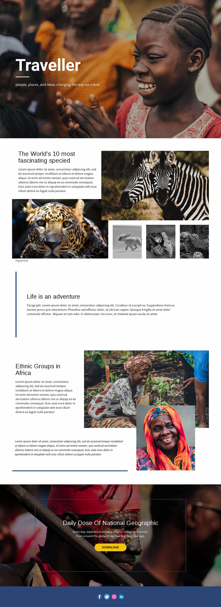 Life is an adventure Website Design