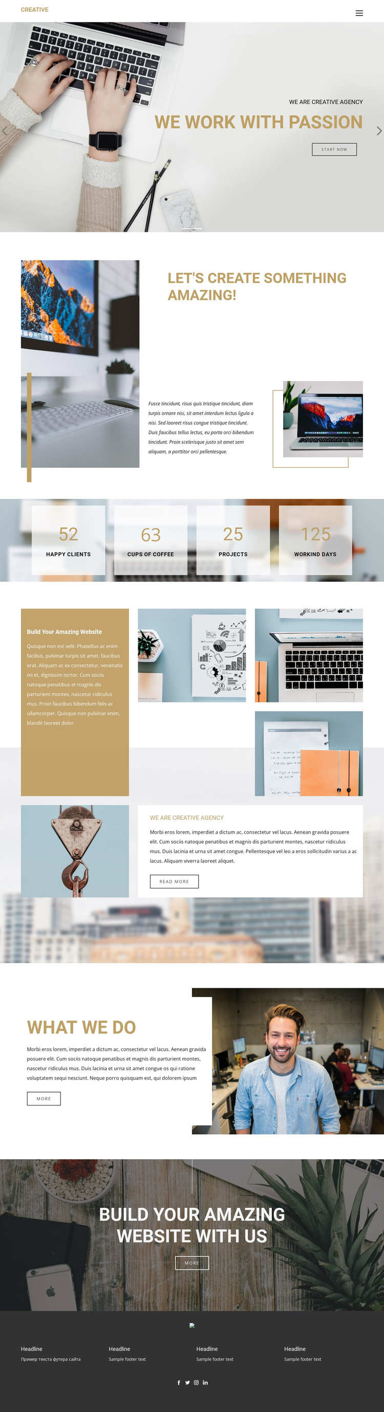 Exceptional creative designs One Page Template