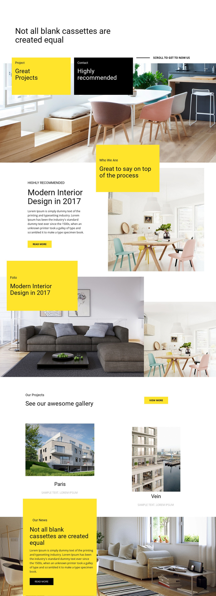 Great projects, high quality One Page Template