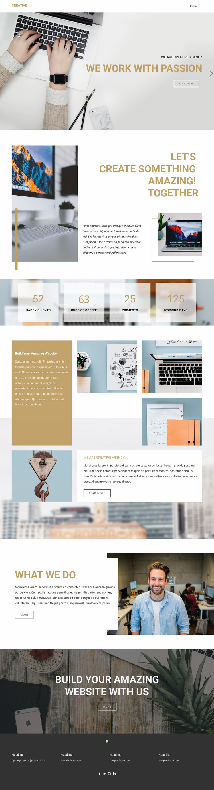 Exceptional creative designs Web Page Design