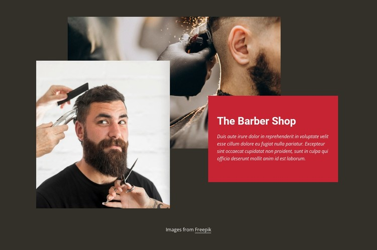 Barber fashion shop CSS Template