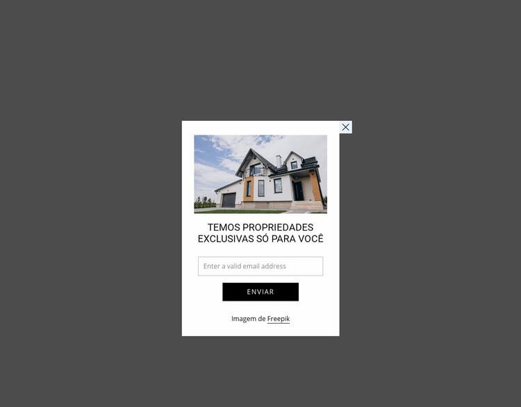Popup com imagem e forma Modelo de site