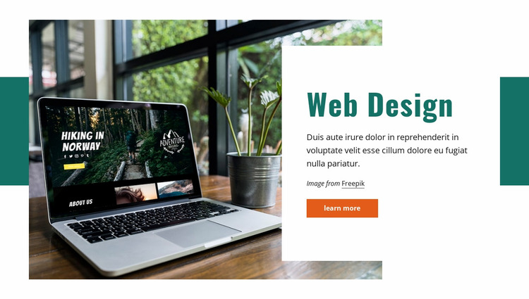 Functional, interactive identity Website Mockup