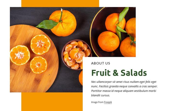 Fruit & salads WordPress Theme