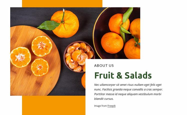Fruit & salads WordPress Website Builder