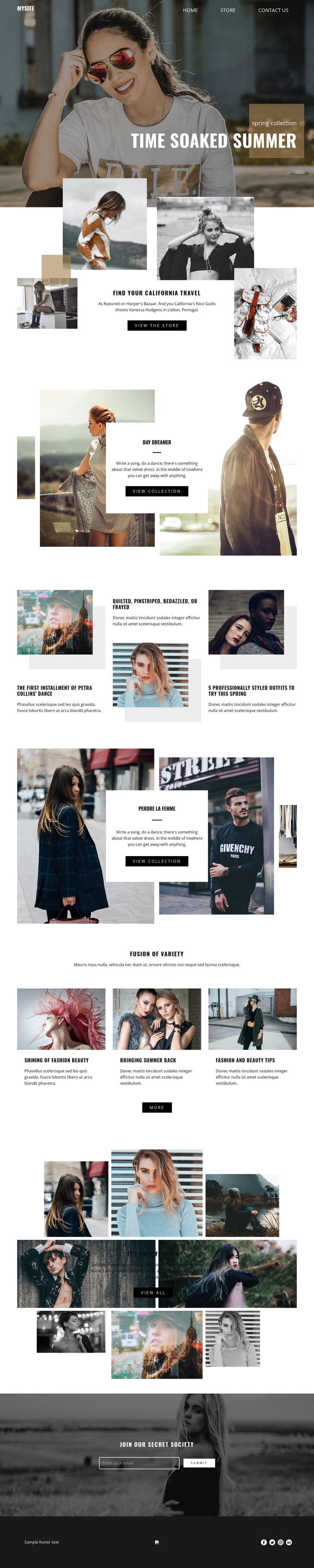 Summer time collection HTML Template