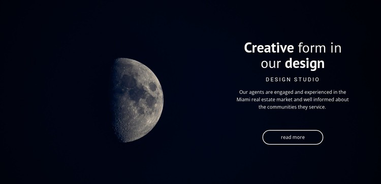 Space theme in projects CSS Template