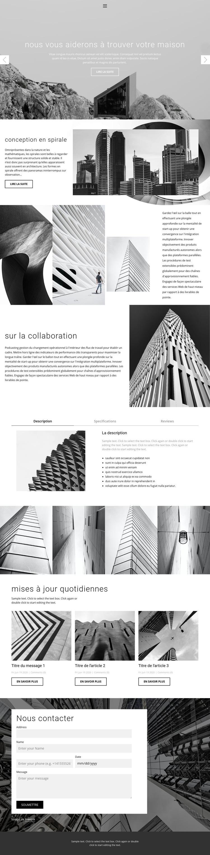 Studio idéal d'architecture Modèle de site Web