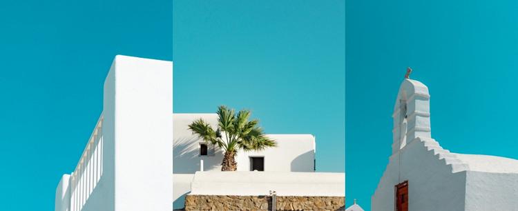 White architecture Homepage Design