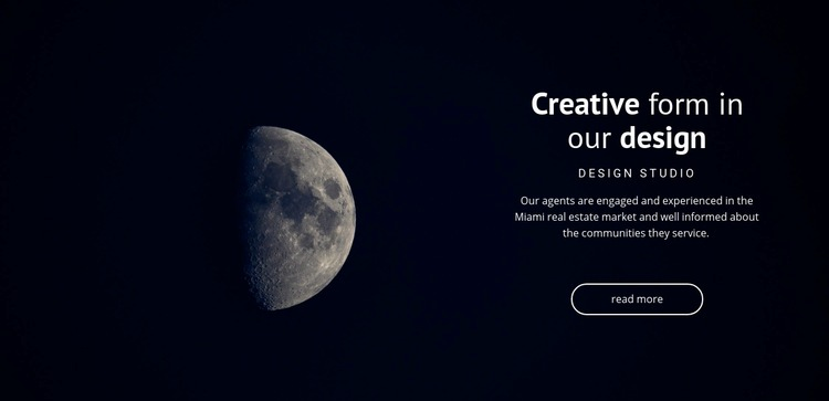Space theme in projects Html Code Example