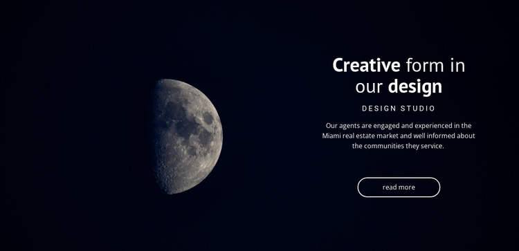 Space theme in projects Html Website Builder