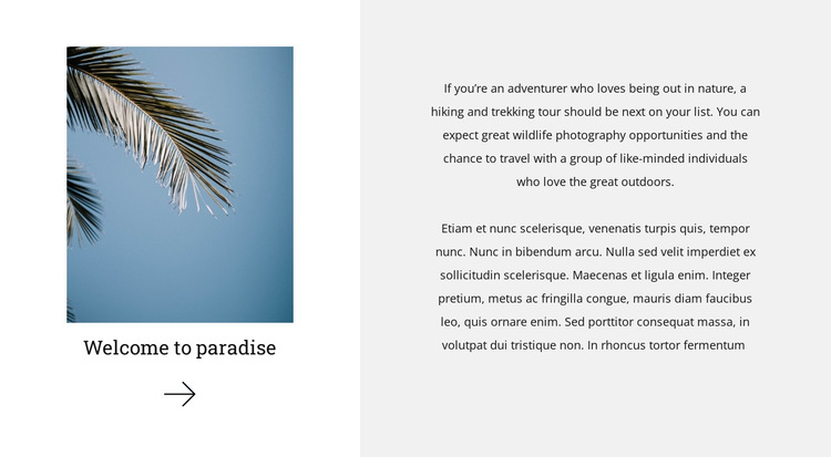 Welcome to paradise HTML5 Template