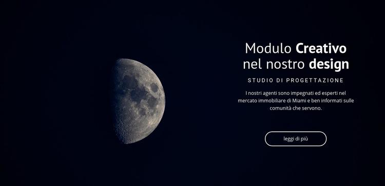 Tema spaziale nei progetti Modello di sito Web