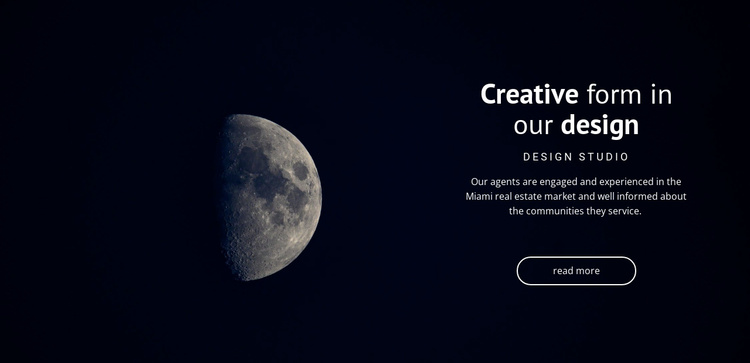 Space theme in projects Joomla Template