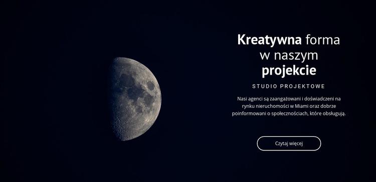 Motyw kosmiczny w projektach Szablon witryny sieci Web