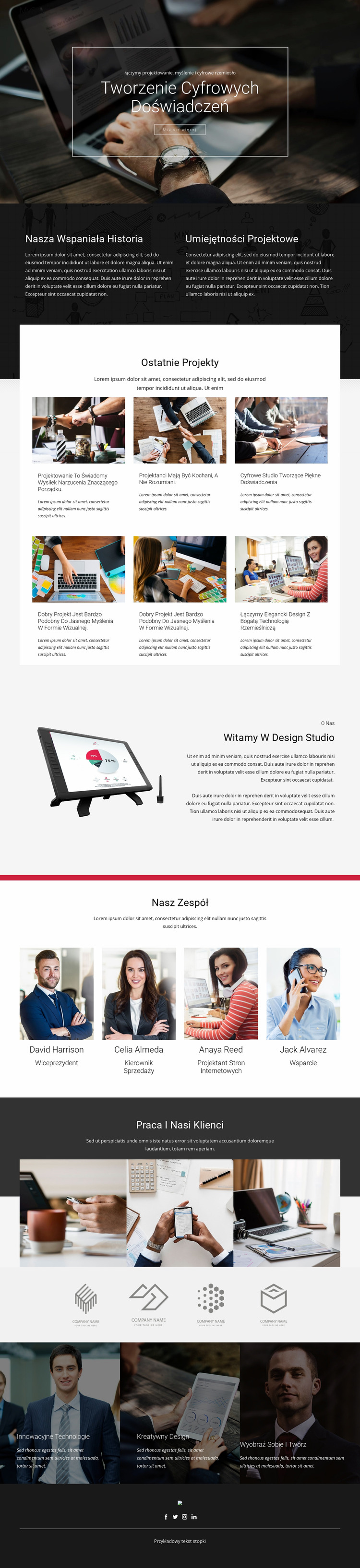 Crafting Digital Design Studio Szablon Joomla