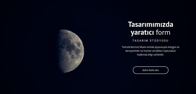 Projelerde uzay teması Web Sitesi Şablonu