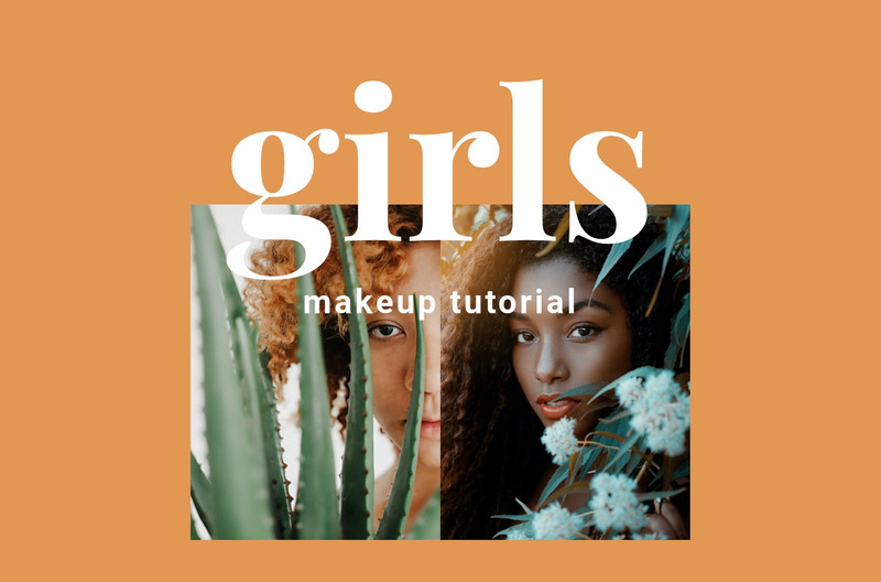 Makeup tutorial Web Page Design