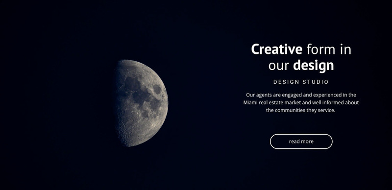 Space theme in projects Web Page Design