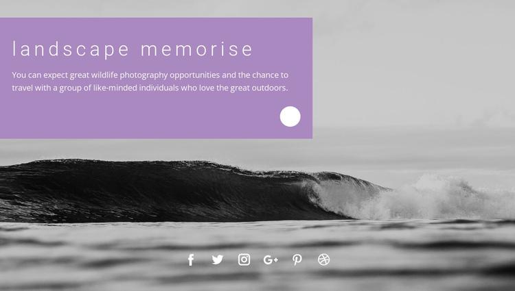 Sea landscape memories Website Builder Software