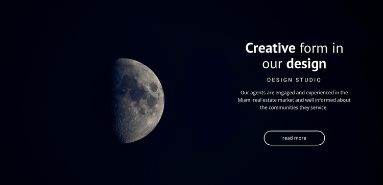 Space theme in projects Website Builder Software