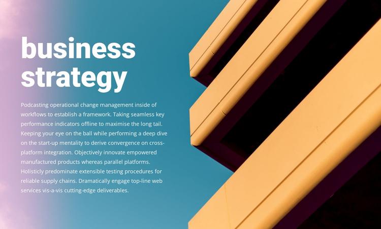 New business strategy Website Builder Software