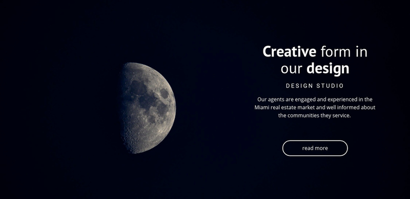 Space theme in projects Website Creator