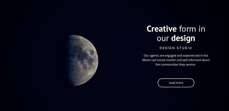 Space theme in projects Website Design