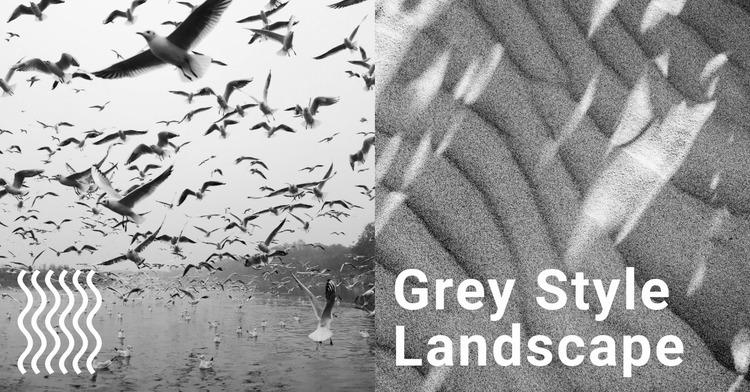 Grey style background Website Mockup