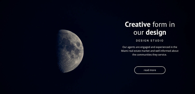 Space theme in projects Website Mockup