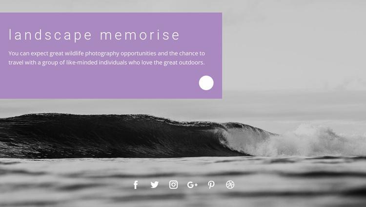 Sea landscape memories Website Template