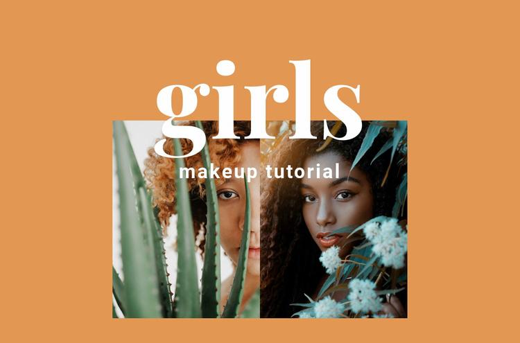 Makeup tutorial Landing Page