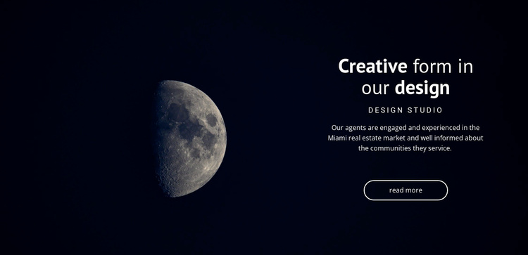 Space theme in projects Landing Page